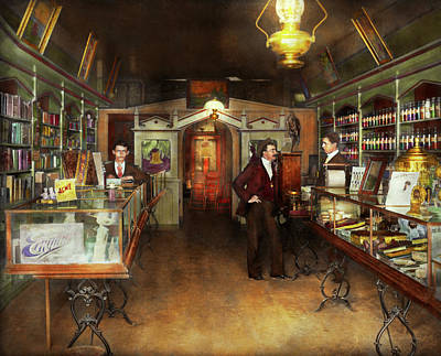 Apothecary - Spell Books And Potions 1913 Art Print by Mike Savad