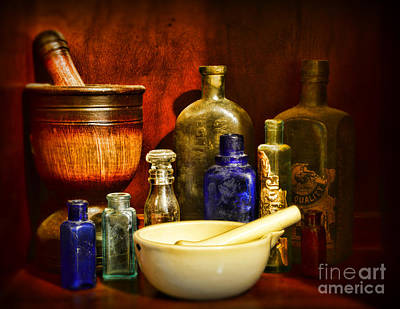 Medicine Bottles Photograph - Apothecary - Tools Of The Pharmacist by Paul Ward