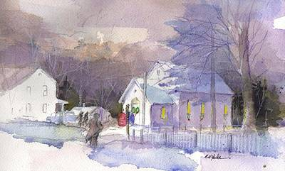 Christmas Eve Painting - Appalachian Christmas by Robert Yonke