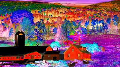 Maine Farms Mixed Media - Appalachian Foliage Wonders by Mike Breau