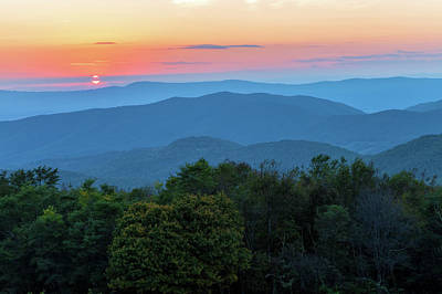 Photograph - Appalachian Mountains At Sunset by Jonathan Nguyen