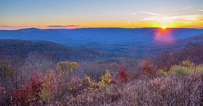 Photograph - Appalachian Mountains Sunset by Andy Crawford