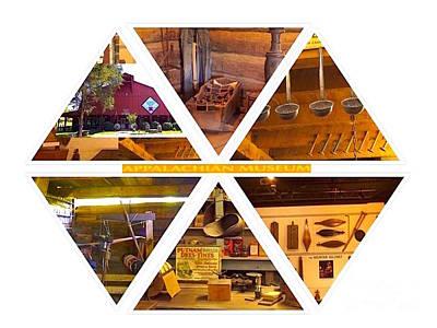 Dipper Digital Art - Appalachian Museum Hexagon Design by Karen Francis
