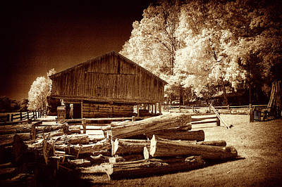 Photograph - Appalachian Saw Mill by Paul W Faust - Impressions of Light