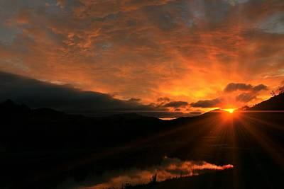 Photograph - Appalachian Sunrise by Carol Montoya