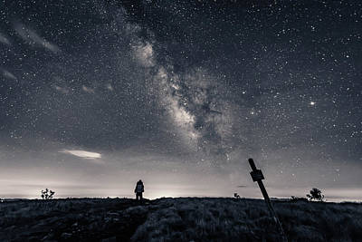 Photograph - Appalachian Trail Hike At Night by Serge Skiba