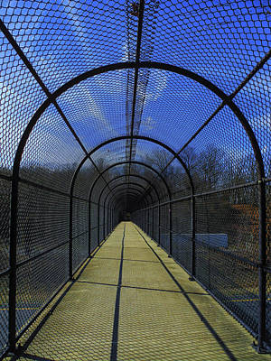 Photograph - Appalachian Trail In Maryland I-70 Footbridge by Raymond Salani III