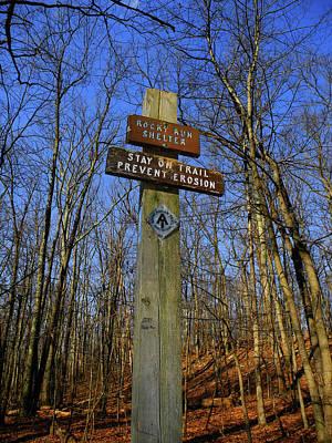 Photograph - Appalachian Trail In Maryland Rocky Run Shelter Sign by Raymond Salani III