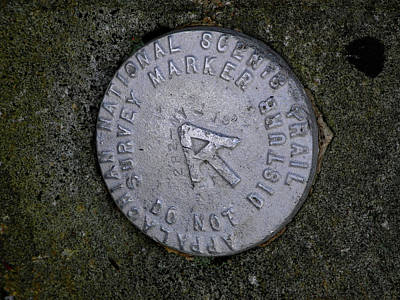 Photograph - Appalachian Trail Marker Number 19 by Raymond Salani III