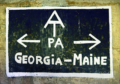 Photograph - Appalachian Trail Sign by Glenn Gordon