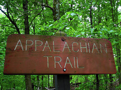 Photograph - Appalachian Trail Sign In Gathland State Park In Maryland by Raymond Salani III