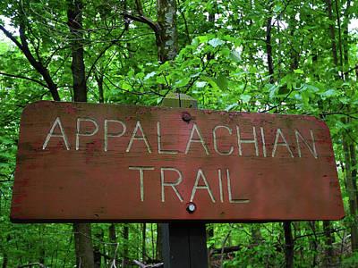 Photograph - Appalachian Trail Sign In Gathland State Park In Maryland by Raymond Salani III