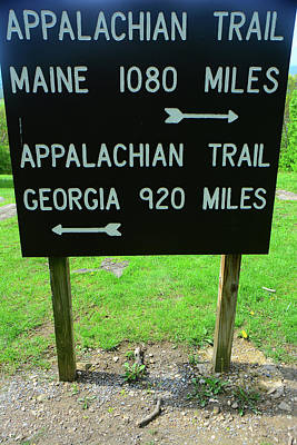 Photograph - Appalachian Trail Sign In Pen Mar State Park by Raymond Salani III