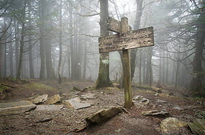 Photograph - Appalachian Trail Sign by Mary Lee Dereske