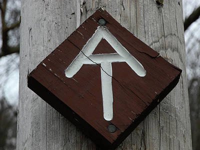 Photograph - Appalachian Trail Sign Old Albany Post Road by Raymond Salani III