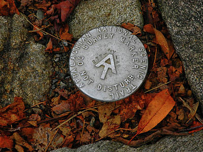 Photograph - Appalachian Trail Survey Marker Number 49 by Raymond Salani III