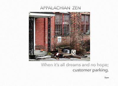 Haiku Wall Art - Photograph - Appalachian Zen by Steven Digman