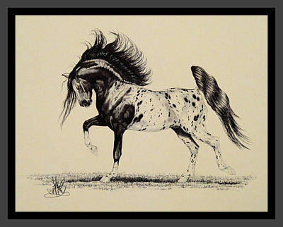 Drawing - Appaloosa Dreams - Dream Horse Series #1037 by Cheryl Poland
