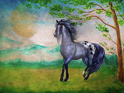 Photograph - Appaloosa Horse On The Range Painting by Sandi OReilly