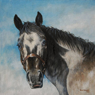 Western Bridle Painting - Appaloosa by Rob Dreyer
