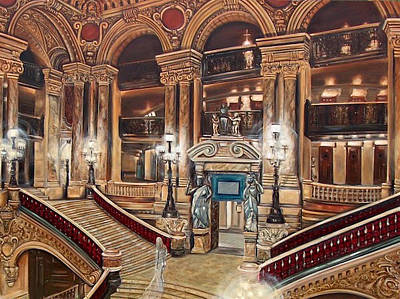 Wa Painting - Apparition In The Paris Opera House by Adrienne Martino