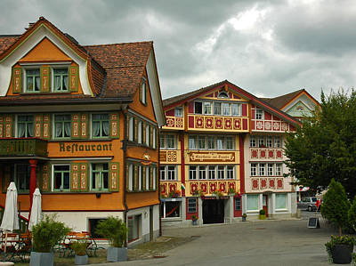 Photograph - Appenzell Switzerland Colorful Street by Ginger Wakem