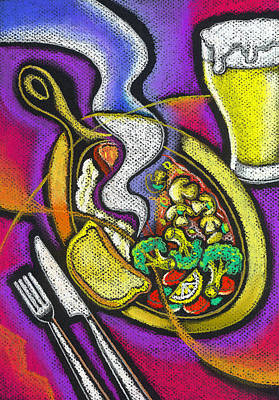 Appetizing Dinner Art Print by Leon Zernitsky