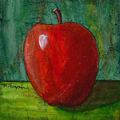 Painting - Apple #4 by Mary Elizabeth Thompson