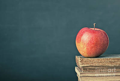 Photograph - Apple And Book by Gualtiero Boffi