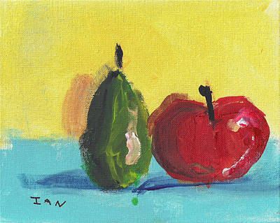 Painting - Apple And Pear Still Life by Ian Reynolds