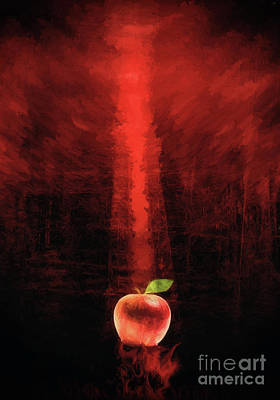 Photograph - Apple and Red by Roberto Giobbi