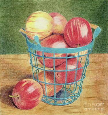 Painting - Apple Basket by Carol Bond Art