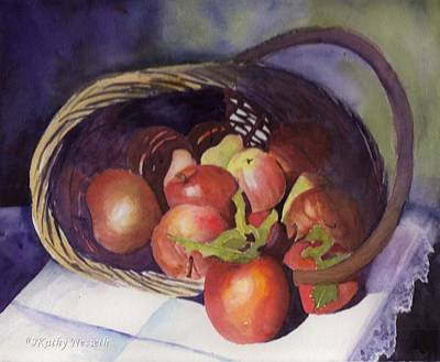 Painting - Apple Basket by Kathy Nesseth