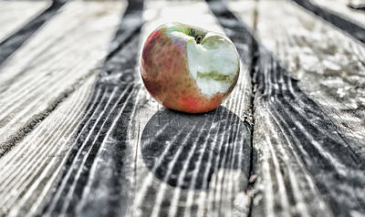 Photograph - Apple Bite by Sharon Popek