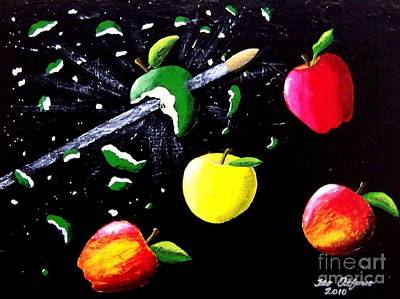 Painting - Apple Blast by Teo Alfonso