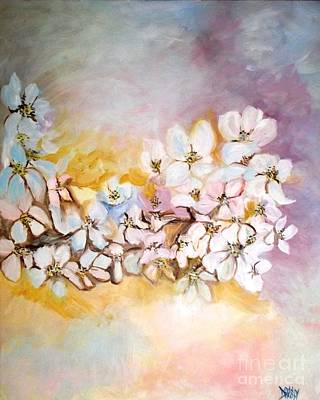 Painting - Apple Blooms by Donna Dixon