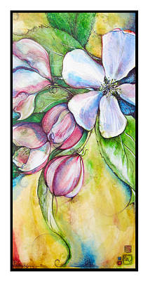Apple Blossom Art Print by Clare Catling