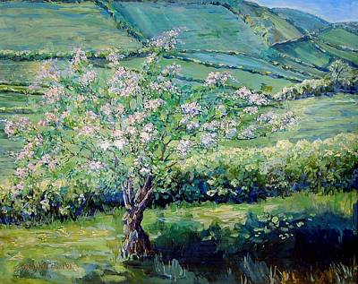 Apple Blossom In The Valley Art Print by Wendy Head