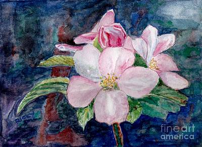 Apple Blossom - Painting Art Print by Veronica Rickard