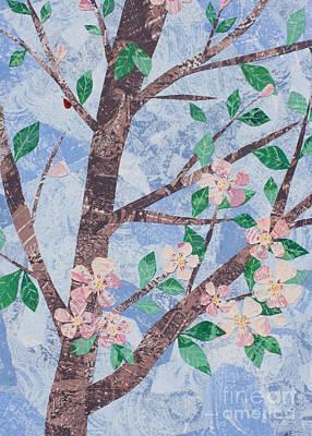 Mixed Media - Apple Blossoms by Janyce Boynton