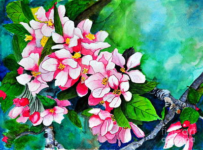 Painting - Apple Blossoms by John W Walker