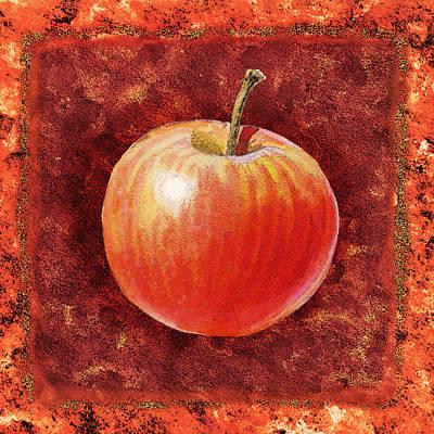 Painting - Apple By Irina Sztukowski by Irina Sztukowski