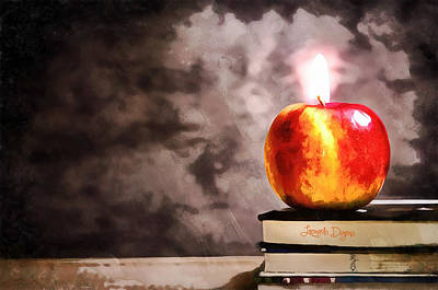 Candle Stick Digital Art - Apple Candle - Da by Leonardo Digenio