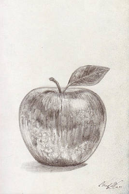 Mindful Drawing - Apple by Chad Glass