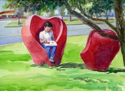 Painting - Apple Chair by Ping Yan