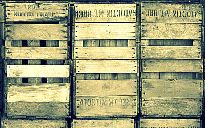 Photograph - Apple Crates Wooden Texture by Joseph Skompski