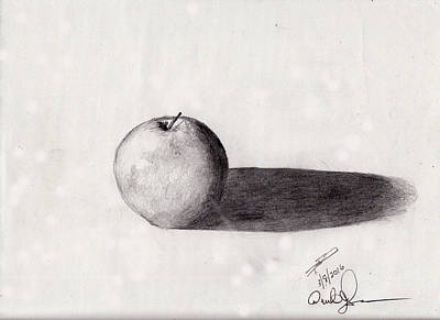 Drawing - Apple by David Jackson
