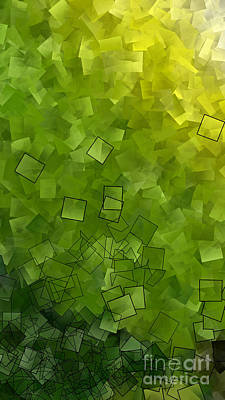 Abstract Photograph - Apple Green - Abstract Tiles No15.819 Narrow by Jason Freedman