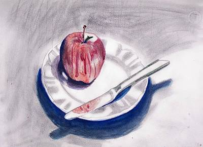 Painting - Apple by Liz Adkinson