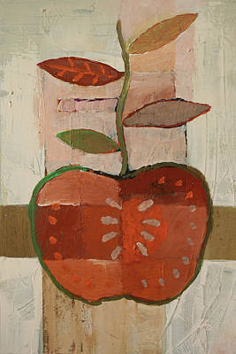 Painting - Apple by Lutz Baar